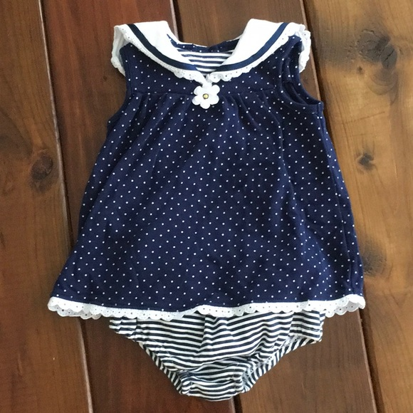 Little Me Other - Baby girl sailor style dress - Little Me brand